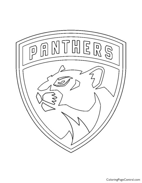 NHL – Florida Panthers Logo Coloring Page