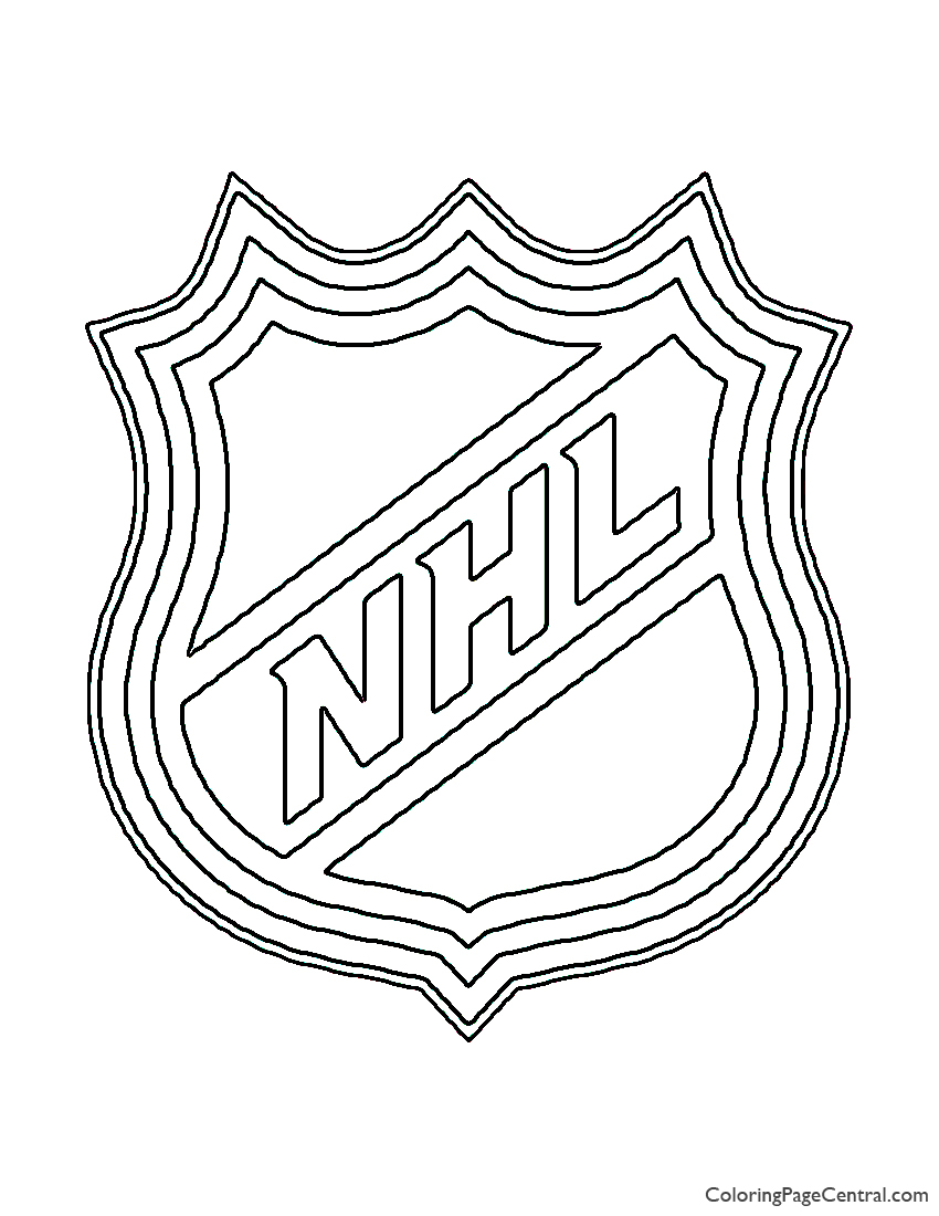 NHL Logo Coloring Page | Coloring Page Central