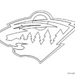 NHL - Minnesota Wild Logo Coloring Page