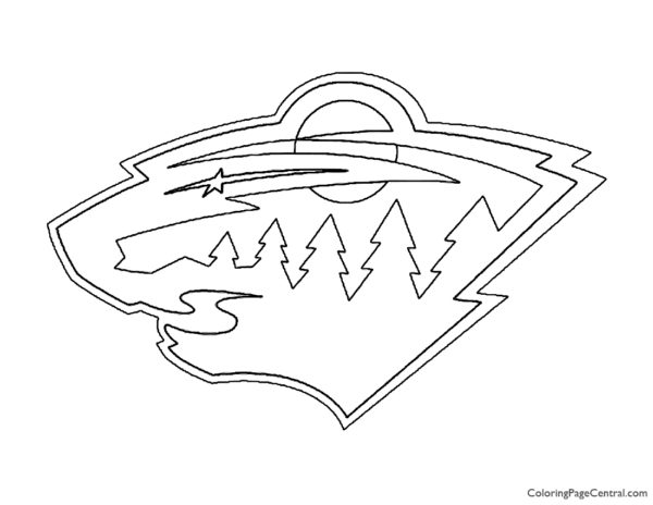NHL – Minnesota Wild Logo Coloring Page