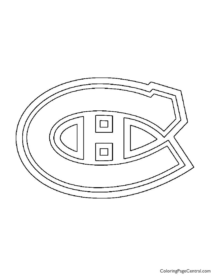 Nhl montreal canadiens coloring page