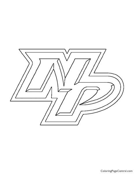 NHL – Nashville Predators Logo Coloring Page
