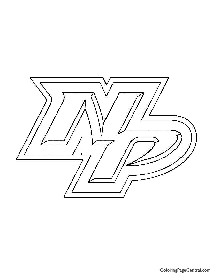 Nhl Nashville Predators Logo Coloring Page Coloring Page Central