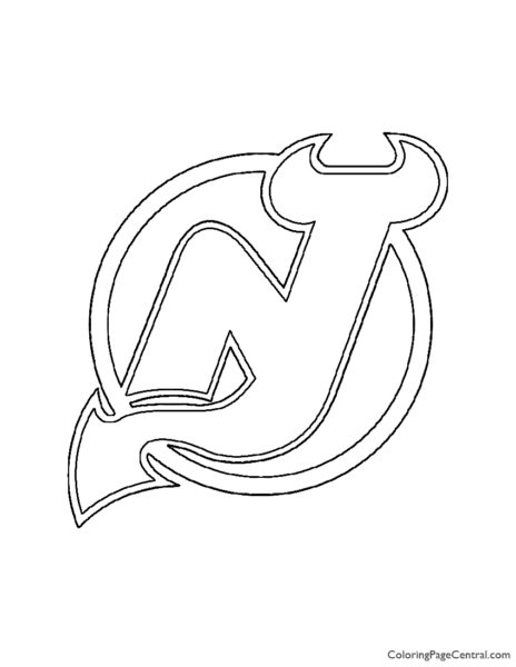 NHL – New Jersey Devils Logo Coloring Page