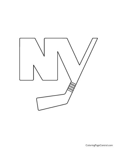 NHL - New York Islanders Coloring Page