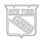 NHL - New York Rangers Logo Coloring Page