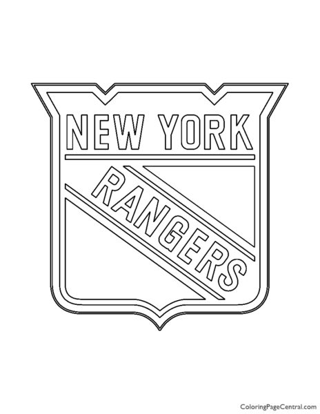 NHL – New York Rangers Logo Coloring Page