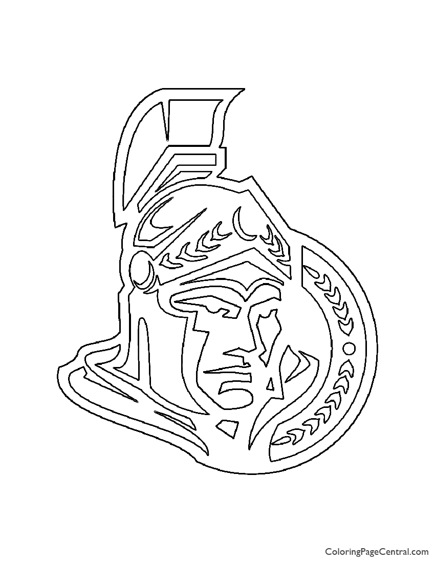 NHL - Ottowa Senators Logo Coloring Page
