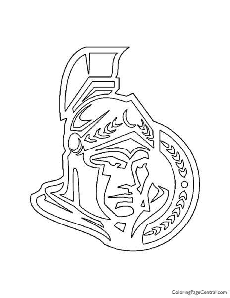 NHL – Ottowa Senators Logo Coloring Page
