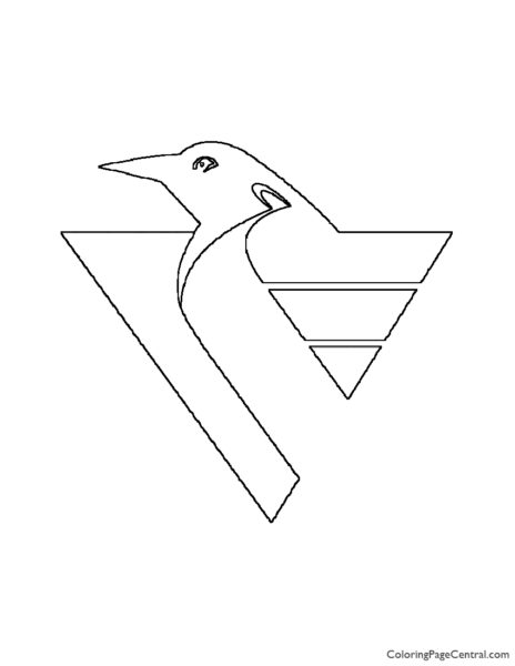 NHL – Pittsburgh Penguins Logo Coloring Page
