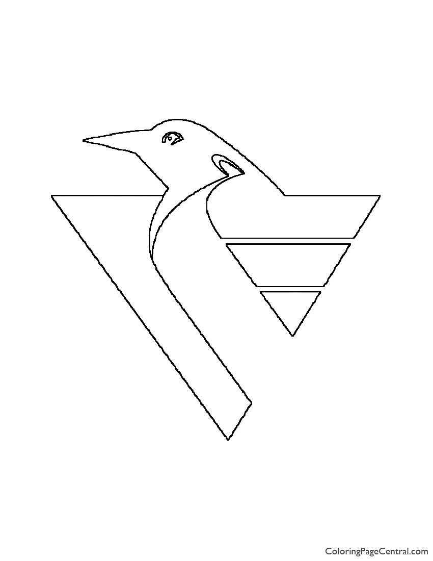 Nhl Pittsburgh Penguins Logo Coloring Page Coloring Page Central