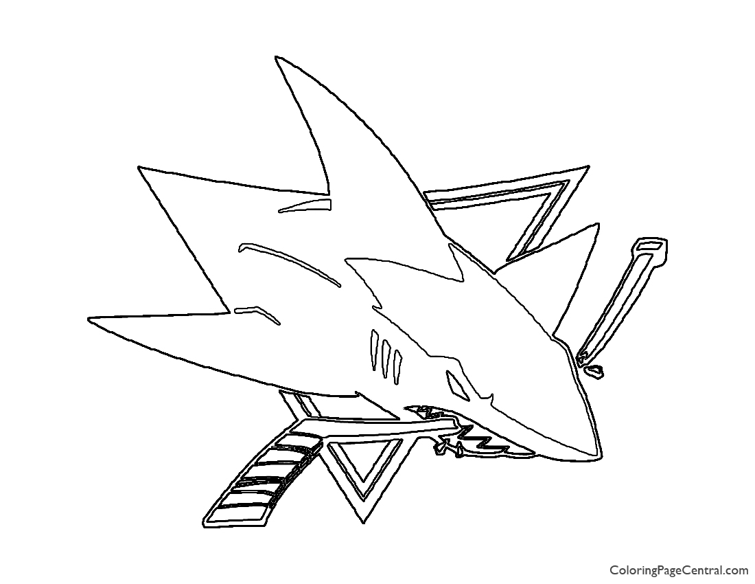 NHL - San Jose Sharks Logo Coloring Page