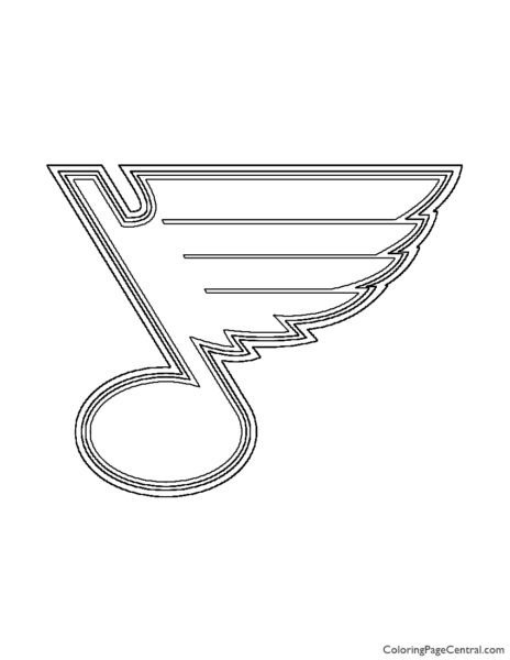 NHL - St Louis Blues Logo Coloring Page