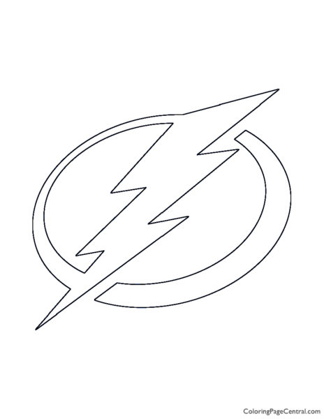 NHL – Tampa Bay Lightning Logo Coloring Page