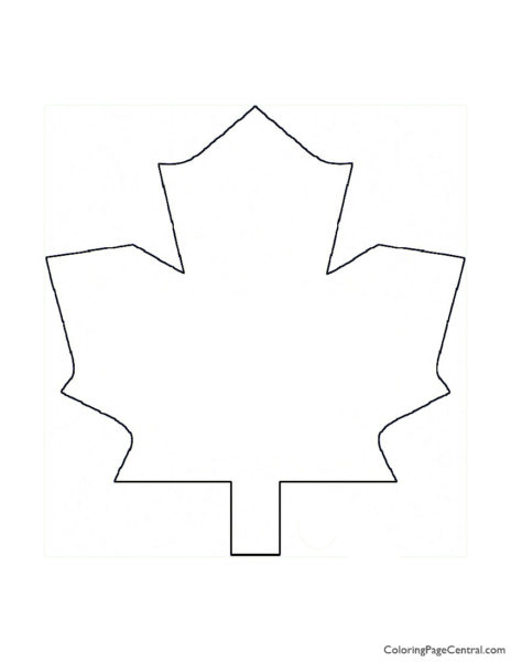 NHL – Toronto Maple Leafs Logo Coloring Page