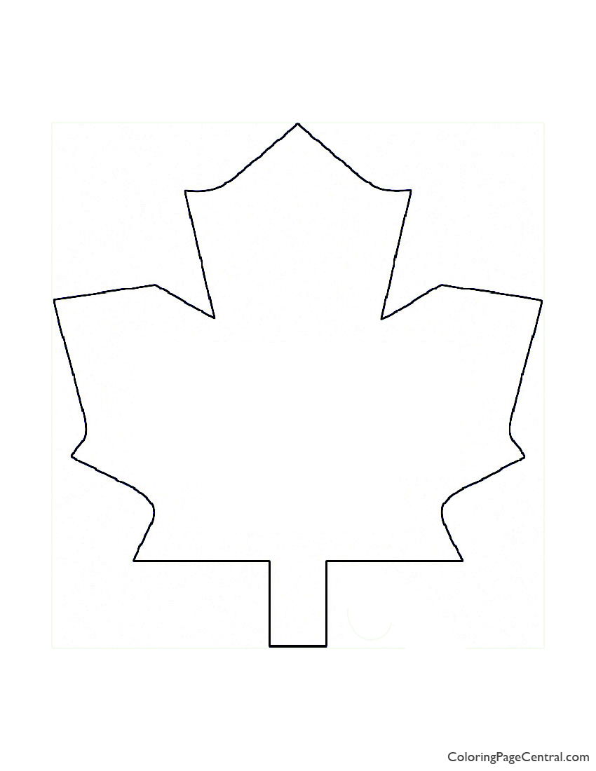 Nhl Toronto Maple Leafs Logo Coloring Page Coloring Page Central