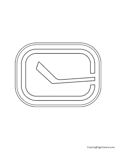 NHL - Vancouver Canucks Logo Coloring Page