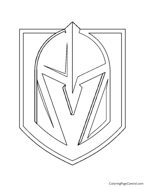 NHL – Vegas Golden Knights Logo Coloring Page