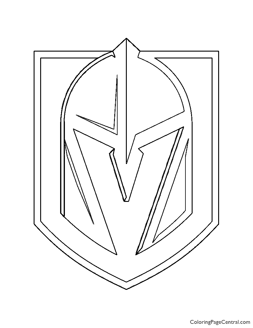 Nhl Vegas Golden Knights Logo Coloring Page Coloring