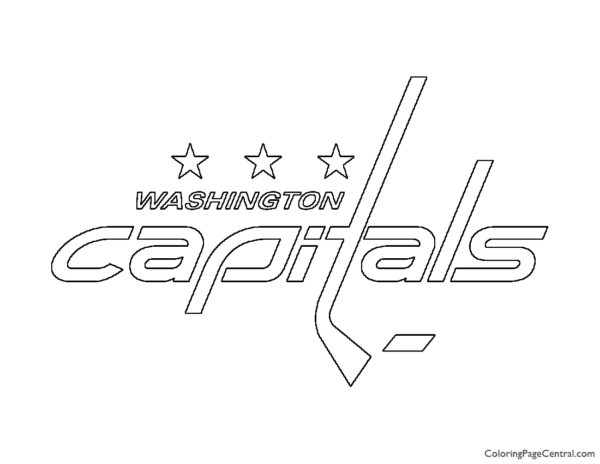 NHL – Washington Capitals Logo Coloring Page