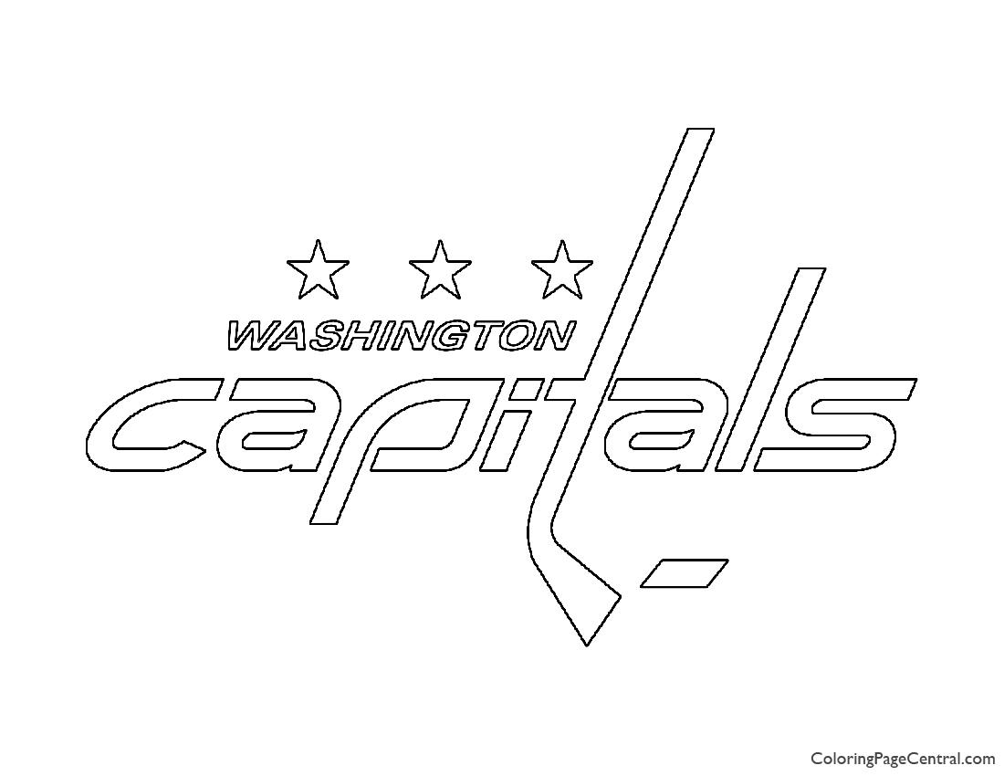NHL - Washington Capitals Logo Coloring Page