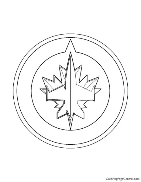 NHL – Winnipeg Jets Logo Coloring Page