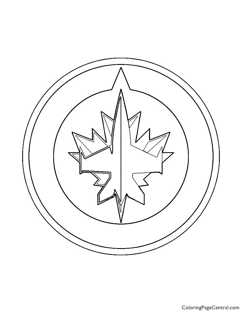 NHL - Winnipeg Jets Logo Coloring Page