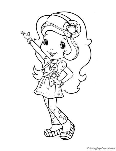 Orange Blossom 02 Coloring Page