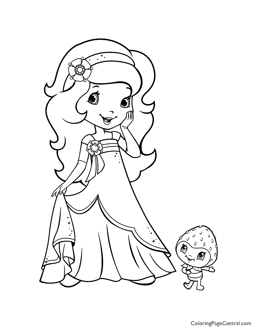 Orange Blossom and Berrykin Coloring Page