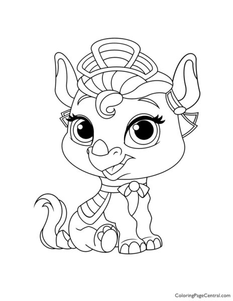 Palace Pets Alora Coloring Page