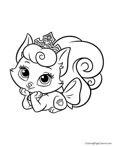 Palace Pets Beauty Coloring Page