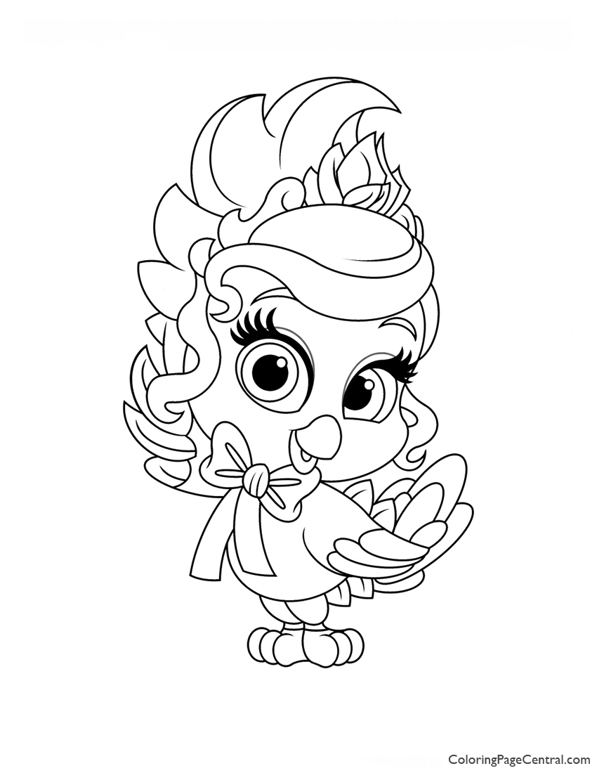Palace Pets Birdadette Coloring Page