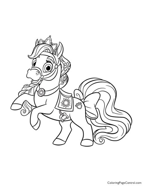 Palace Pets Blondie Coloring Page