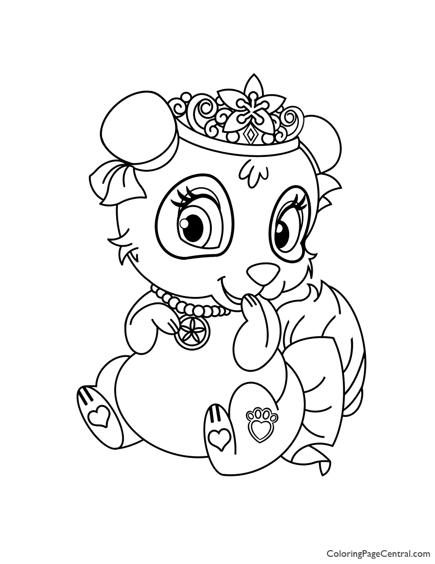 Palace Pets Blossom Coloring Page