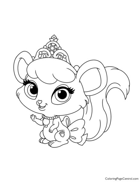 Palace Pets Brie Coloring Page