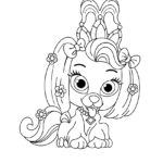 Palace Pets Daisy Coloring Page