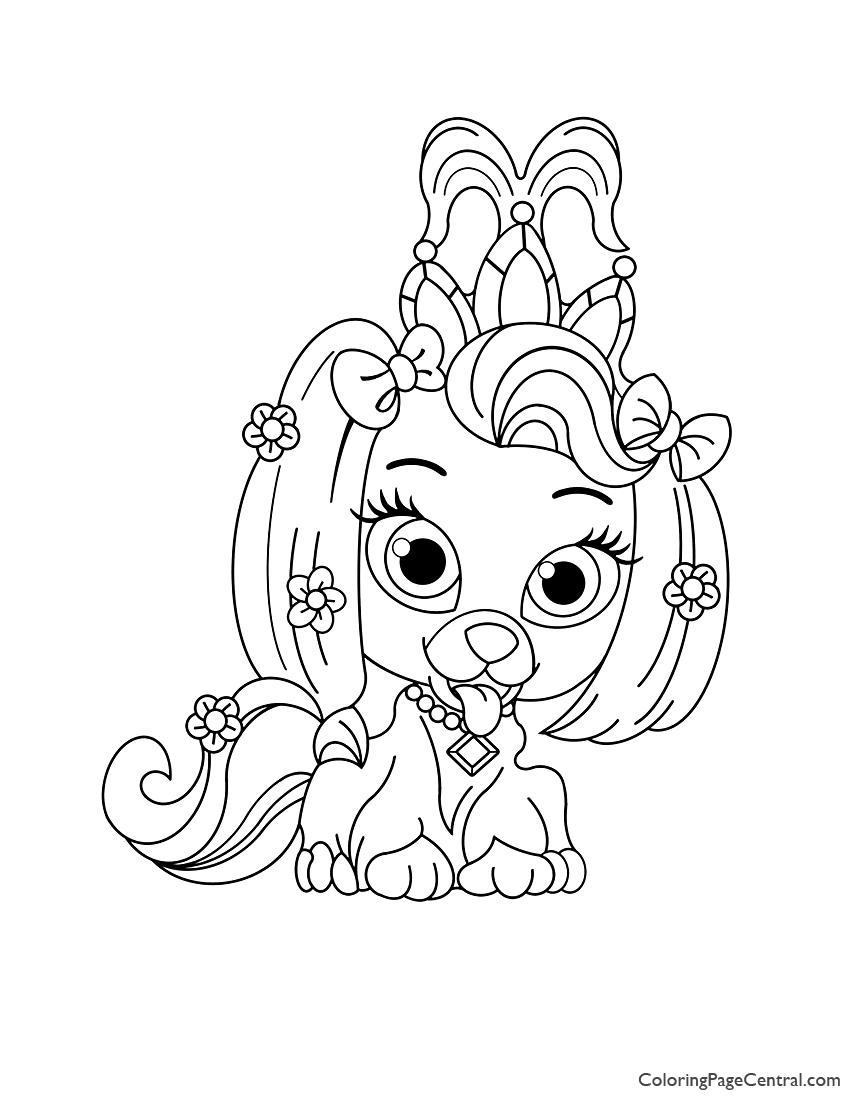 Palace Pets Daisy Coloring Page Coloring Page Central