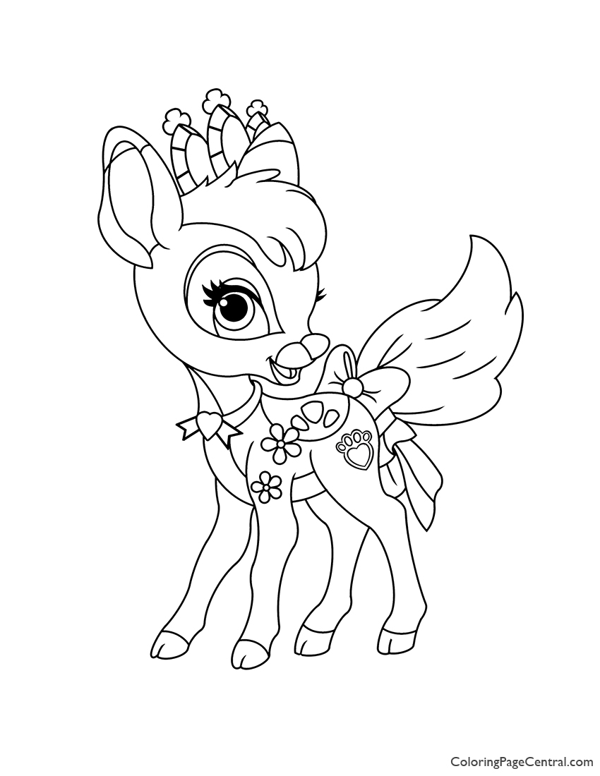 Palace Pets Gleam Coloring Page | Coloring Page Central