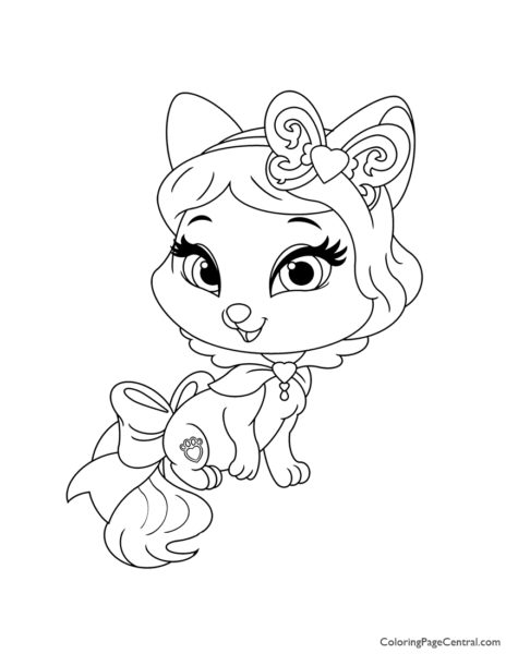 Palace Pets Honeycake Coloring Page