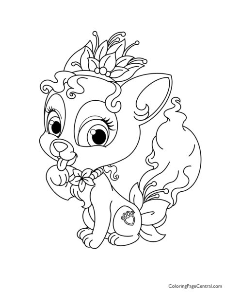 Palace Pets Lily Coloring Page