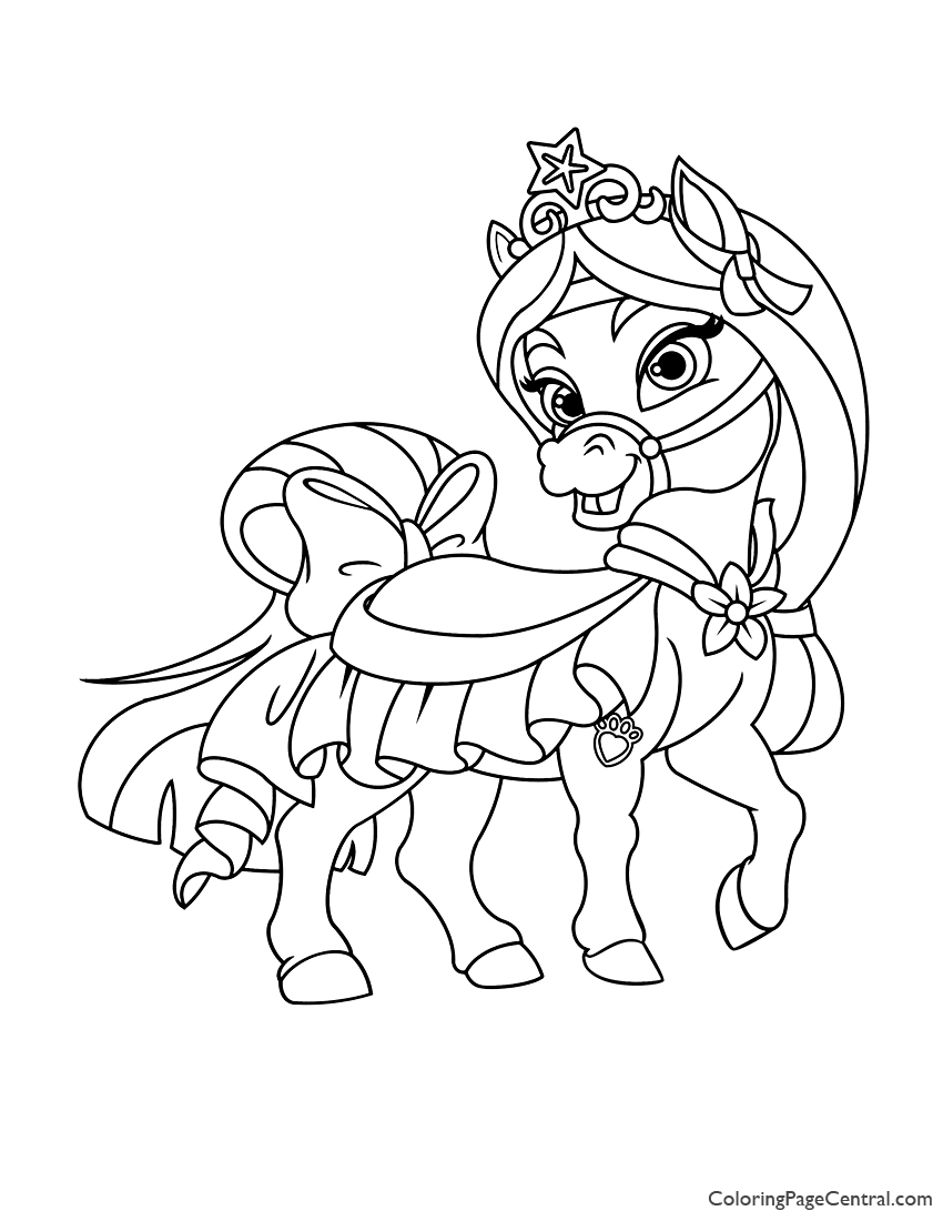 Palace Pets Beauty coloring page | Free Printable Coloring Pages | 1100x850
