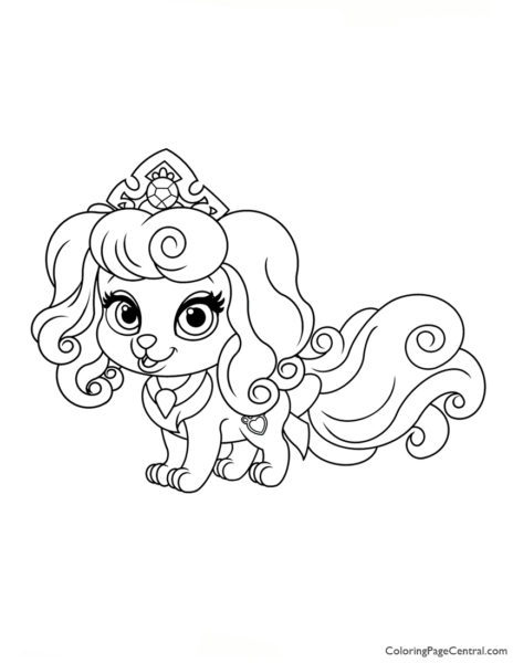 Palace Pets Macaron Coloring Page