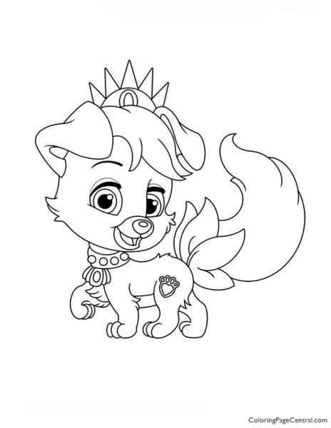Palace Pets Matey Coloring Page