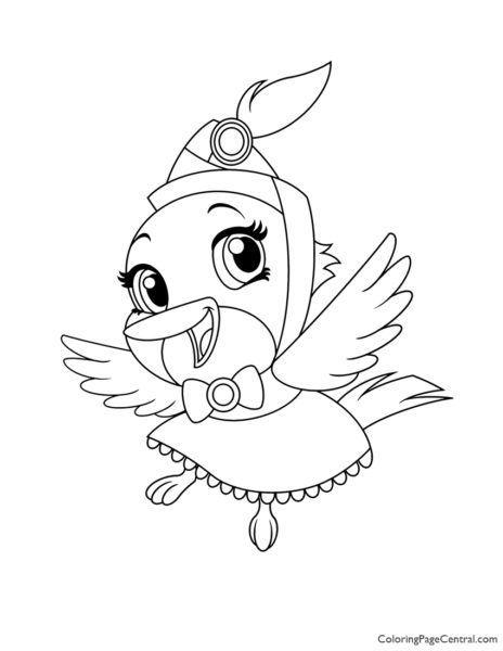 Palace Pets Miss Featherbon Coloring Page