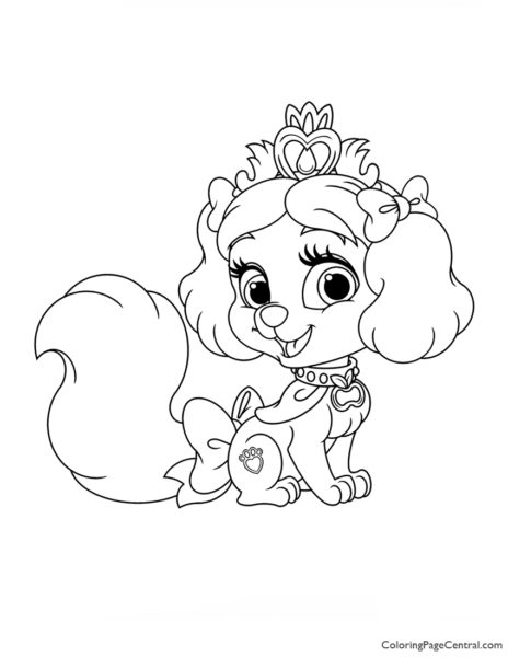 Palace Pets Muffin Coloring Page