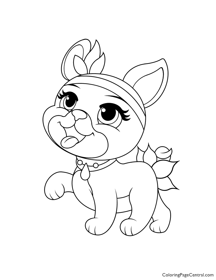 Palace Pets Olive Coloring Page