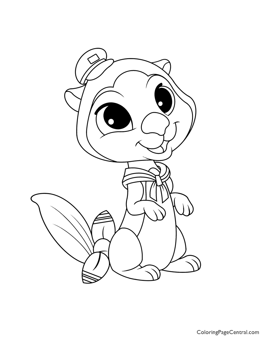 Palace Pets Otto Coloring Page