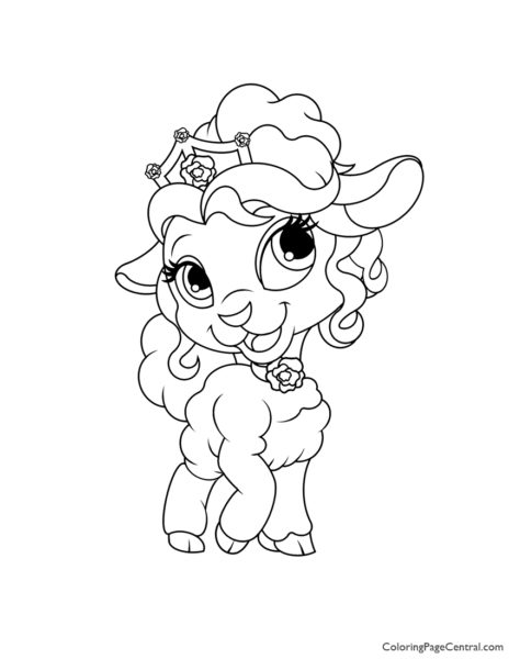Palace Pets Page Coloring Page