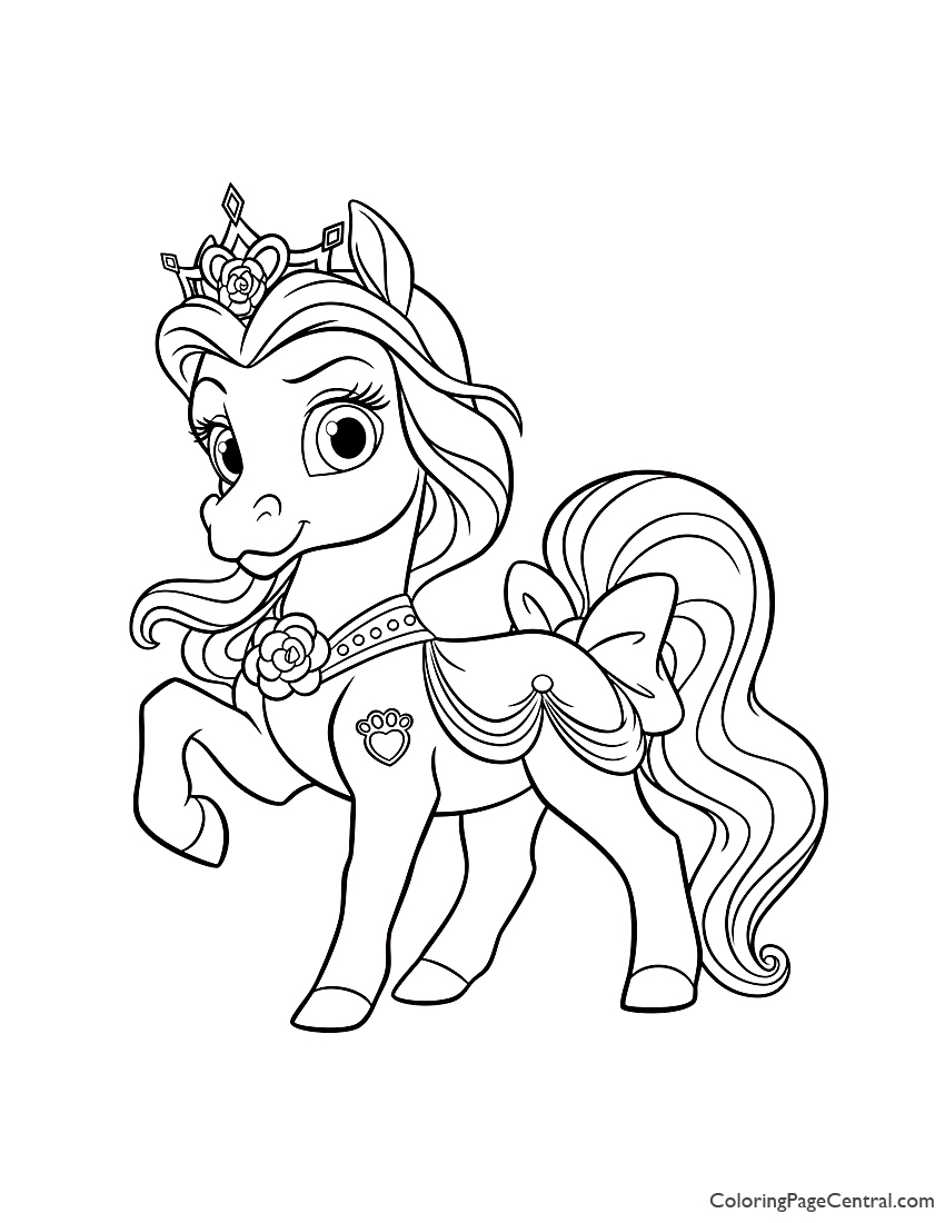 Palace Pets Petit Coloring Page | Coloring Page Central