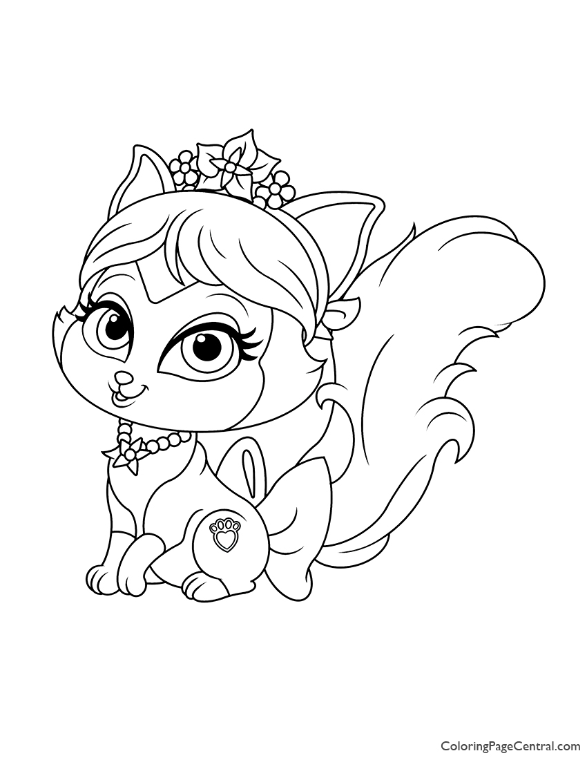 Palace Pets Plumdrop Coloring Page